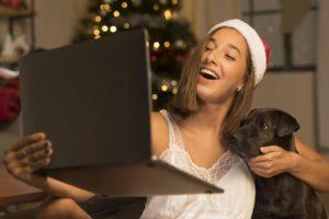 mascota en casa en Navidad